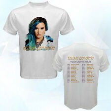 Demi Lovato Neon Lights Tour Feb-Mar 2014 white t-shirt v2