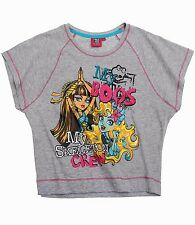 Monster High T-Shirt Short Sleeve For Girls 7 to 14 Years | Grey
