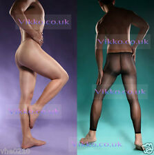 ULTRA SHEER SUN OIL MENS FLY OPENING FOOTED / FOOTLESS TIGHTS