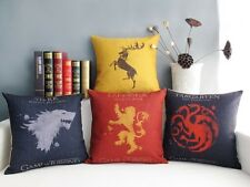 Game of Thrones Stark Baratheon Badge Pattern cushion Cover throw pillow case