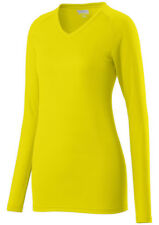 Augusta Sportswear Girls Long Sleeve V Neck Assist Jersey T-Shirt. 1331