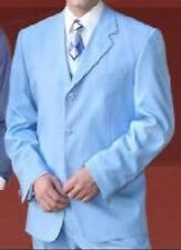 Men's Basic Suit Sky Blue Color (comes with pants) by Milano Moda Style 802P