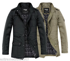 UF1031 New Men's Jacket Coat Slim Clothes Winter Warm Overcoat Casual Outerwear