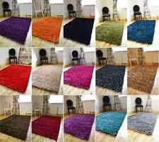 SMALL X LARGE NEW THICK NON SHED SHINY SPAGHETTI SPARKLE SHAGGY RUG MAT CARPET