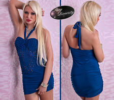NEW Sexy Blue Party Dress Original Style Vestido Sexy Azul de Fiesta Latina