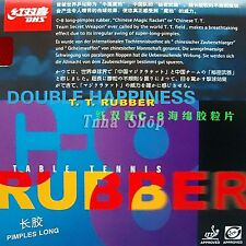 2x DHS (Double Happine) C8 Long Pips-Out Table Tennis Rubber (OX, No sponge)