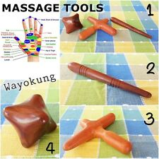 HAND FOOT BODY WOOD MASSAGE TOOLS Relaxation Pain Stress Relief Therapy Relaxing