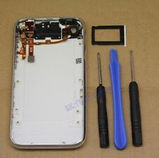 WHITE HOUSING BACK COVER ASSEMBLY CHROME BEZEL FOR IPHONE 3GS 3G TOOLS CASE FLEX