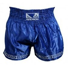 Bad Boy Blue Muay Thai Shorts - MMA UFC Fight Wear White - 5* SERVICE