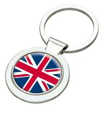 Union Jack Great Britain England Silver Coloured Keyring - Mothers Day Fathers D
