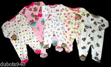 NWT Girls/Boys 3-6,6-9,18 Mo, 3T Polka Dot/Monkeys 1 pc Footy/Shoe Pajamas
