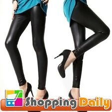 Sexy Lady High Waist Stretchy Faux Leather Look Tight Leggings Pants