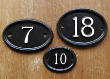 Personalised Cast Metal House Number Sign Door Plaque ~ Customised Any Number ~