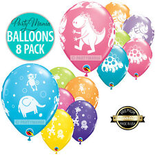 DINOSAUR OR JUNGLE ANIMAL PARTY SUPPLIES DECORATIONS LATEX BALLOONS PK 10