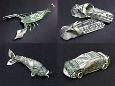 CHRISTMAS TREE ORNAMENTS made of MONEY Origami Unique Dollar Bill Gifts v.3