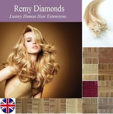 "16""1G 100/200s ★LONG/STRAIGHT MICRO LOOP REMY HUMAN Hair Extensions★UK SUPPLIERS"