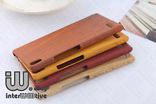 New Shockproof Wood Pattern Plastics Hard Cover Case For Huawei Ascend P6