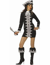 Ladies Caribbean Pirate Captain Lady Womens Outfit Fancy Dress Costume