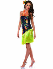 Ladies Fever Luscious Luau Hawaiian Party Outfit Fancy Dress Costume