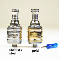 Trident Clone V12 Rebuildable Dripping Atomizer RDA Gold & Stainless Steel
