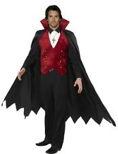Adult Mens Count Vampire Dracula Halloween Fancy Dress Outfit Costume