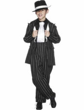 Child 1920s Zoot Suit Boys Bugsy Gangster Fancy Dress Book Week Costume