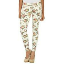 Arden B White Floral Print Skinny Jeans Denim Bottoms Size 2 4 6 8 12 16 NWT