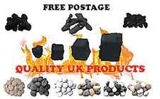 coulerd pebbles for gas fire/ oval coals ripped coals. free postage!!!