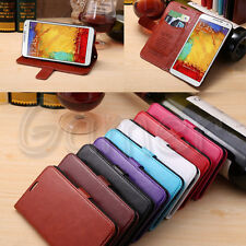 Luxury Flip PU Leather Case Wallet Cover For Samsung Galaxy Note 3 Neo N7505 5.5