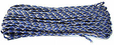 100 & 50 Ft. Blue Camo Parachute Cord 550 Paracord Mil Spec Type III 7 Strand