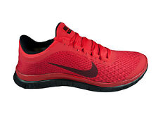 NEW MENS NIKE FREE 3.0 V5 RUNNING SHOES TRAINERS GYM RED / BLACK