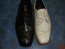 New Boy Ivory/Bone/Black Stacy Adams Shoes/Dress shoes/TUXEDO/Toddler 11-7 YOUTH