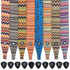 Guitar Strap 60s Hessian Fabric for Electric/Acoustic/Bass (1.42m) 8 Designs