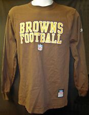 Cleveland Browns Reebok NFL,Mens Brown Long Sleeve Shirt, Size Small,  R243A