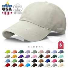 New Plain Solid Washed Cotton Polo Style Baseball Ball Cap Caps Hat Hats
