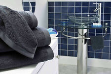 BOUTIQUE SLATE GREY 800GSM EGYPTIAN COTTON LUXURY TOWEL SET FACE HAND BATH