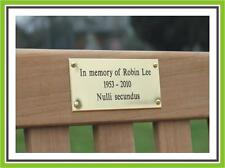 A3 ENGRAVED POLISHED BRASS BENCH PET MEMORIAL PLAQUE SIGN