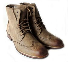 NEW MENS FASHION HIGH ANKLE BOOTS LACE UP OXFORDS WING TIP ZiPPERED DRESS SHOES