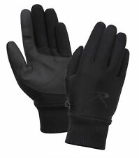 Wind & Water Proof Gloves  Black Fleece Lined All Weather Stretch Rothco 4464