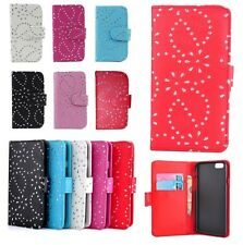 Bling Diamond Flip Leather Wallet Case Cover For Various Nokia Lumia Phones