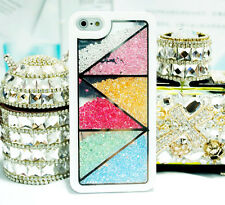Luxury Bling Diamonds Rhinestone Trigon Hard Cases Covers For iPhone5C SS5C