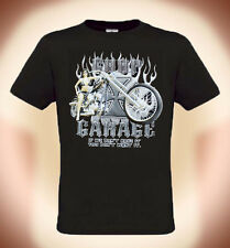 "T-shirt de Motard Biker """"Chop Garage"" T. S--XXXL (possible à 5XL, +3€ Surtaxe)"