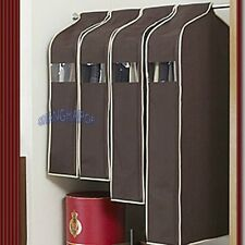 Suit Coat Jacket Cover Garment Bag Storage Protector Clothing Hanging Coffee New