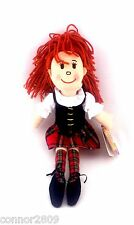 Scottish dancer rag doll (Red or Green tartan)