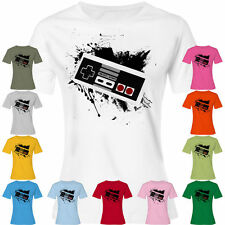 Girlie Old School Game Controller Gaming T-Shirt / Shirt Retro Classic NES