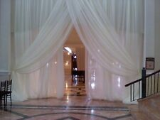 "Wedding Sheer Drape panels 12'x116"" white, ivory, black, fuchsia for backdrop,"