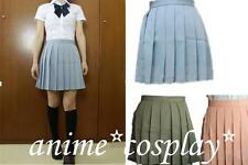 Japanese School Girls uniforms Womens Solid Pleated Mini Skirts Sailor College