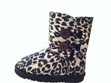 UGG Boots 2 Button Synthetic Wool Colour Black Leopard For Junior Girl
