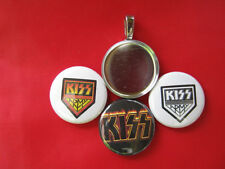 KISS Rock Band 70' -  Paul Gene Ace Peter tray necklace w 3 inserts and 1 magnet