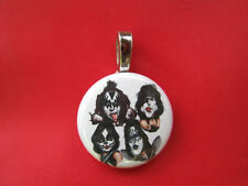 "Rock Band KISS  Gene ACE Paul Peter Handmade Magnetic  NEW Pendent 18"" Necklace"